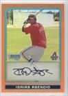 isaias-asencio-5-25-baseball-card-2009-bowman-chrome-prospects-orange-refractor-bcp165