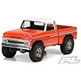 Pro-Line Racing #3483-00 1966 Chevrolet C-10 Clear Body (Cab + Bed) for 12.3 (313mm) Wheelbase Scale Crawlers