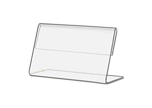 "Marketing Holders Small Name Plate Photo Frame Place Card Holder Deli Tag Pricing Display 3.5""w x 2""h Value Pack of 10"