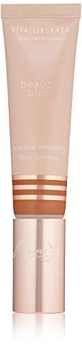 Organic Skin Perfecting CC Cream - VITA LIBERATA Beauty Blur Organic, Natural and Vegan Primer and Skin Tone Optimizer For Face Tan Latte Dark/Dark 1.01 fl. Oz.