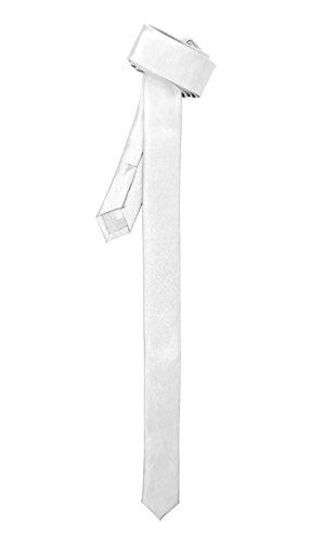 Super Skinny White Shiny Slim - Tie Shiny