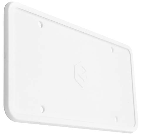 Rightcar Solutions Flawless Silicone License Plate Frame - Rust-Proof. Rattle-Proof. Weather-Proof. - White
