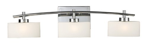 Elk Lighting Chrome Vanity (Elk 17082/3 Eastbrook 3-Light Vanity In Polished Chrome)