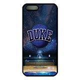 iPhone 5 5S Case,iPhone SE Case Duke Basketball Stars Blue Devils Drop Protection Never Fade Anti Slip Scratchproof Black Hard Plastic Case