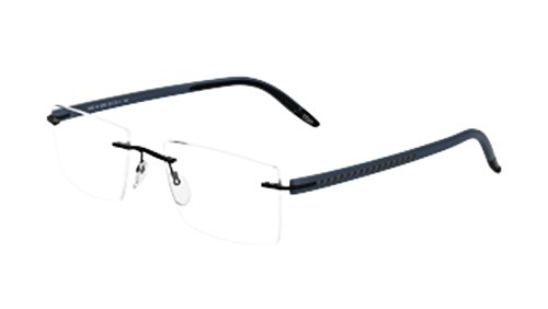 Silhouette Eyeglasses SPX Signia Carbon 5459 6052 Rimless Optical Frame - Eyeglasses Silhouette Rimless