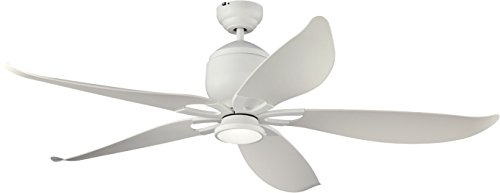 Monte Carlo 5LLR56RZWD Damp Location Lily Ceiling Fan For Sale