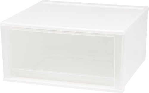 IRIS USA, Inc. SD-52 IRIS 51 Quart Stacking Drawer, 2 Pack, White, 2 Count