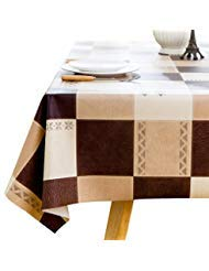 LOHASCASA Square Vinyl Oilcloth Tablecloth Water Resistant/Oil Proof  Wipeable PVC Heavy Duty Plastic
