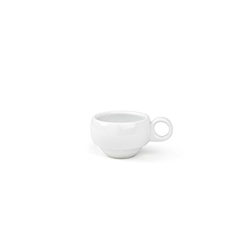 "Front of the House DCS028WHP23 Monaco Cup, 2.5"" Diameter, 1.75"" Height, 3 oz, Porcelain (Pack of 12)"