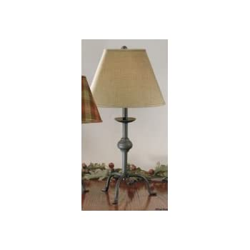 Large Wrought Iron Style Three Leg Primitive Style Lamp, Base Only (COLOR  IS .