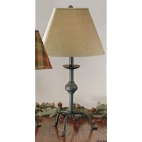Country primitive table lamps amazon large wrought iron style three leg primitive style lamp base only color is aloadofball Gallery