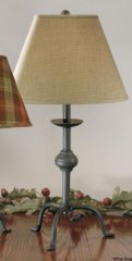 Wrought Iron Table Base (Large Wrought Iron Style Three leg Primitive Style Lamp, Base Only (COLOR IS ...)