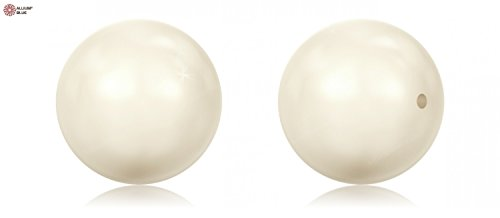Swarovski Round Pearl (Large Hole) (5811) 14mm - Crystal Pearls Effect x 25 - 14mm 5811 Hole Swarovski Large