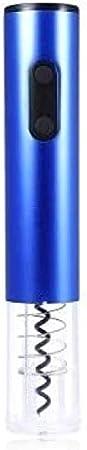 TETHYSUN Abridor de vino Sacacorchos eléctrico original eléctrico abridor de vino sacacorchos automático de botella de vino kit inalámbrico con cortador de lámina y vacío-azul (color: azul)