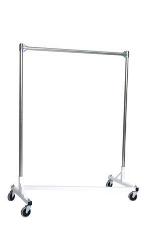 Quality Fabricators Heavy Duty Garment Z-rack : Single Rail - 4' Base X 5' U... by Quality Fabricators