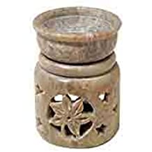 Soapstone Aromatherapy Diffuser - Flower and Stars Design