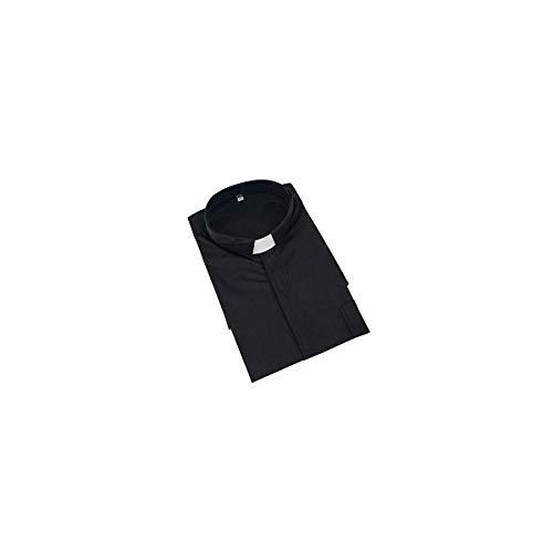 GGS Herren Kurzarm Hemd Klassisches Priesterhemd mit Tab-Kragen  Amazon.de   Bekleidung 4e7e53e949
