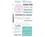 (EK Success Phrase Café Clear Stickers-Easter)
