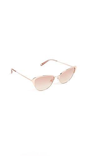 GARRETT LEIGHT Women's Vista Sunglasses, Rose Gold/Copper, One - Garrett Sunglasses