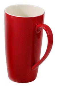 - BIA Cordon Bleu 17 oz Latté Mug - Red - Set of 4