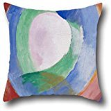 Oil Painting Delaunay, Robert - Formes Circulaires; Lune No. 1 Pillowcase 18 X 18 Inch / 45 By 45 Cm For Son,study Room,teens,monther,teens Boys,chair With Twice Sides