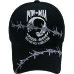 POW Caps- MIA Barbed Wire Cap Black -