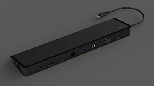 Juiced Systems ChockDOCK v2 - Universal USB-C Laptop Docking Station - 1x USB-C Power Delivery | 1x USB-C 3.1 Gen 2 Data Port | 1x USB 3.1 Gen 2 Port | 2x USB 3.0 Gen 1 | Gigabit Ethernet | SD | AUX by Juiced Systems (Image #6)