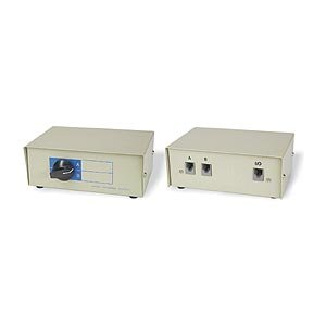 Ziotek 2 to 1 Telephone Switchbox RJ11 (Telephone Switch)