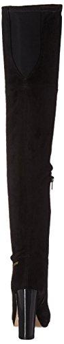 Neoprene Klein Over Calvin Black Dress Polomia Suede Knee The Micro Boot Womens Pgwxqn64wB
