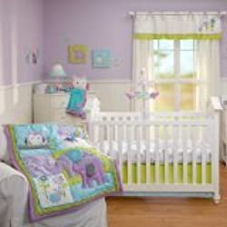 NoJo 4 Piece Crib Bedding Set Purple, Dreamland