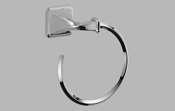 - Brizo 694630 Wall Mount Towel Ring from the Virage Collection, Polished Chrome