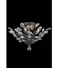 (Elegant Lighting Orchid Collection 4-Light Flush Mount with Royal Cut Crystals, Dark Bronze Finish by Elegant Lighting)