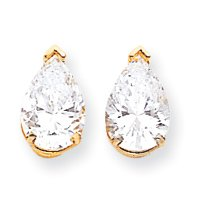 Perfect Jewelry Gift 14k 10x7 Pear Earring Mountings
