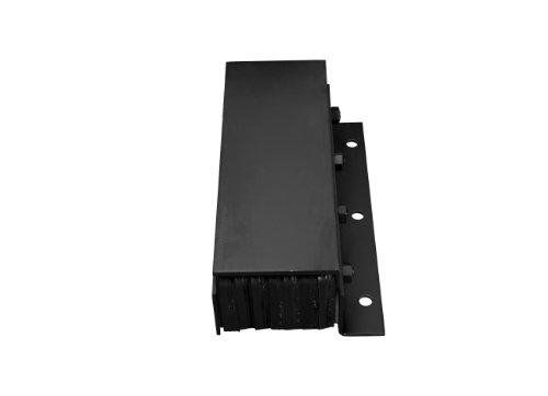 IRONguard-Steel-Faced-Rubber-Dock-Bumper-Rectangular-Laminated-Vertical-Mount-Flat-Plate-One-Side-3-Holes-20-Length-11-Width-6-Depth