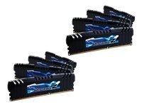 G.SKILL Ripjaws Z Series 64GB (8 x 8GB) DDR3 2400 MHz PC3-19200 240-Pin Desktop Memory Model: F3-19200CL10Q2-64GBZHD (Quad Channel Ddr3 64gb compare prices)