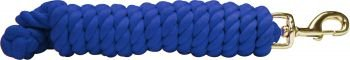 Royal Blue Braided Cotton Lead Rope 10' w/Brass Snap Showman