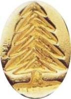 Evergreen Christmas Tree oval brass Wax Seal Stamp
