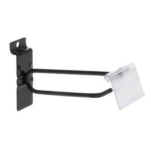 4'' Black Slatwall Scanner Hooks w/Label Holders (Box of 100) by Only Garment Racks (Image #2)
