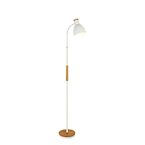 Retro Style Floor Lamp in a Brushed Chrome Metal Finish - Complete with E27 5 LED Bulb [3000K Warm White]