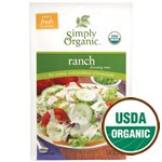 Simply Organic Ranch Salad Dressing, ORGANIC, Gluten-Free - 2pc
