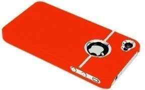 Avcibase TPU Bumper Schutz Hülle für Apple iPhone 4/4S chrome orange