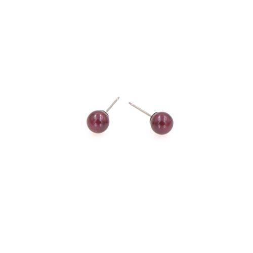 chocolate pearl stud earrings - 6