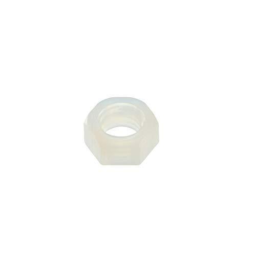 Nylon Hexagon nut White 50 Pieces M5x0.8 mm Thick Thread Metric Hexagonal Nuts