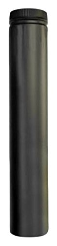 Selkirk Metalbestos 266036 6-Inch X 36-Inch Black Matte Double Wall Smoke Pipe