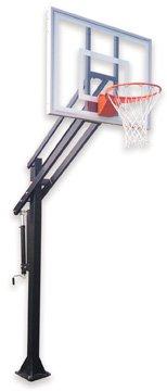最初チームAttack Ultra steel-glass in ground調整可能バスケットボールsystem44、グレー B01HC0BJ14