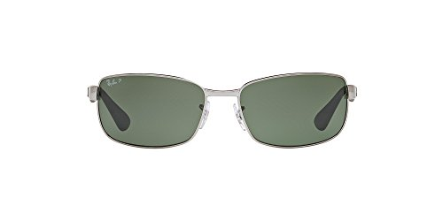 Ray-Ban Unisex RB3478 Gunmetal/Crystal Green Polarized One Size