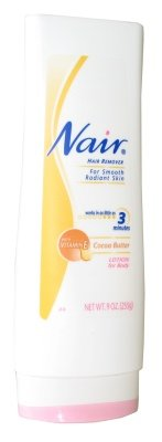 Nair Hair Remover Lotion Cocoa Butter & Vitamin-E 9 Ounce (266ml) (2 Pack)