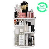 Makeup Organizer, LIFU 360 Degree Rotating and Adjustable Multi-Function Cosmetic Storage Box, Extra Large Capacity, Space Saving, Fits Toner, Creams, Makeup Brushes, Lipsticks and More