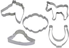 5 Piece Kentucky Derby Horse Cookie Cutter Set