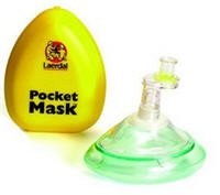 Laerdal Medical Corp 82001933 Mask Pocket With o Wipes & Gloves Ylw Hrd Case 10/Bx